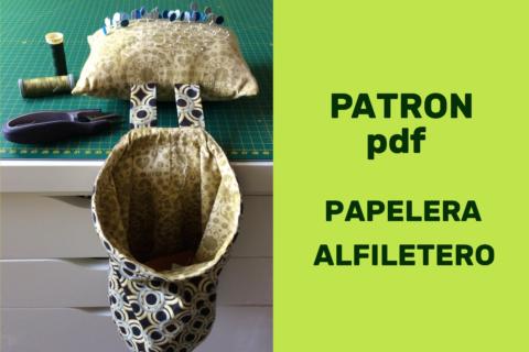 Papelera Alfiletero Patron