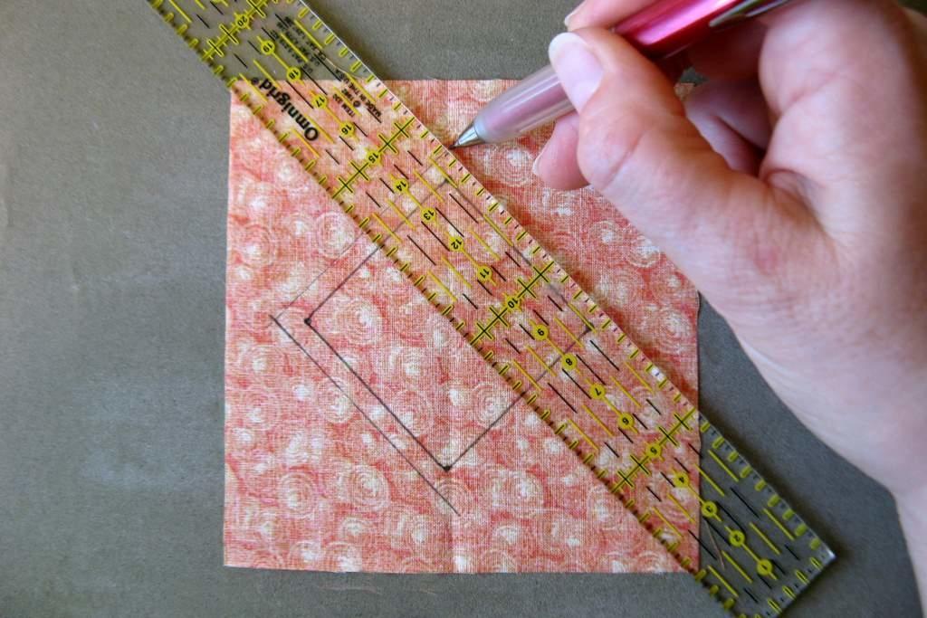 Dibujar margen costura-Regla Patchwork