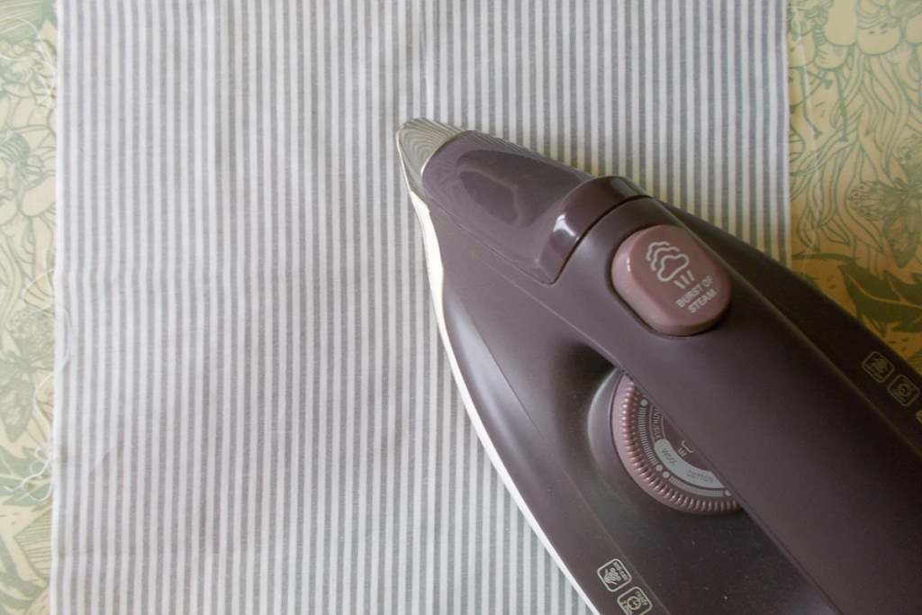 Planchar tela algodón